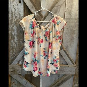Lauren Conrad floral blouse